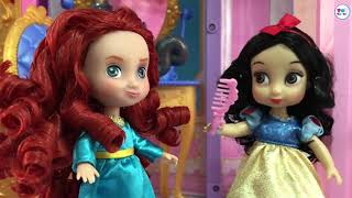 Disney Princess Toddlers Play Time! Peppa Pig World, Castle Dollhouse, Chocolate Cake & Ice cream!