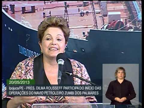 Dilma diz que Brasil recuperou indústria naval e quer ser grande produtor de plataformas
