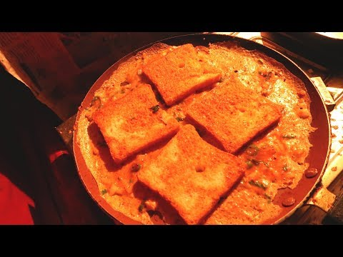 Bread omelette in Hyderabad Streets | Indian Food Vlog | Popular Street Food | bread omelette recipe