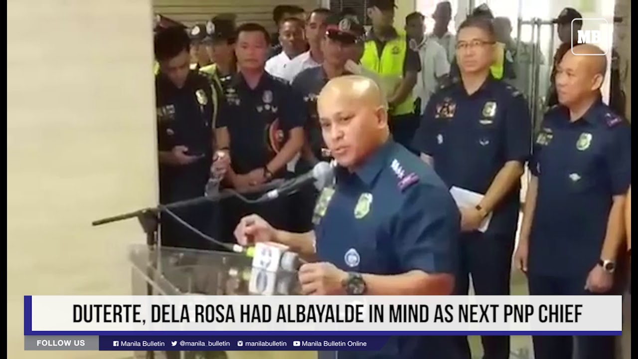 Duterte, Dela Rosa had Albayalde in mind as next PNP chief