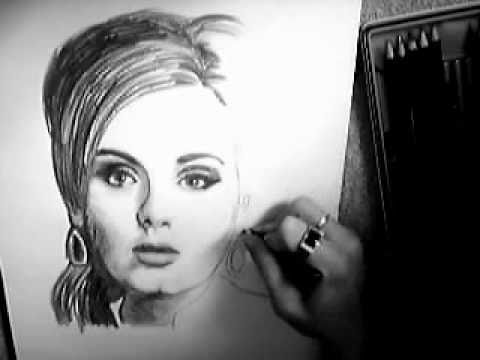 Drawing of Someone Drawing Adele Someone Skyfall Drawing