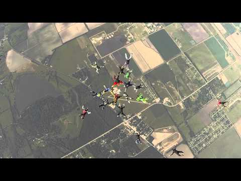 Skydivers Over Sixty Texas State Record 21-Way