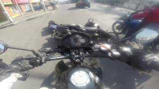 Accidente en motocicleta