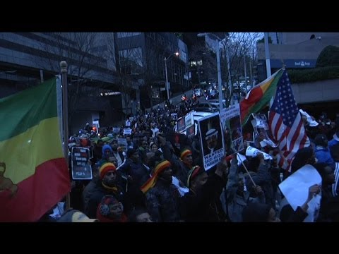 Ethiopians in Seattle protest against Human Rights abuse in Saudi Arabia