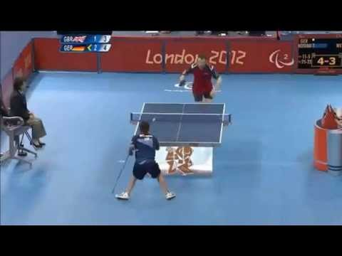 Insane Shot In Table Tennis By Disabled Athlete At Olympics 2012