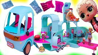 BIG OMG LOL Surprise Glamper Car House with Makeup Room + Blind Bags