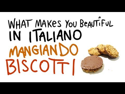 What Makes You Beautiful tradotta in ITALIANO con Google Translate cantata mangiando dei biscotti