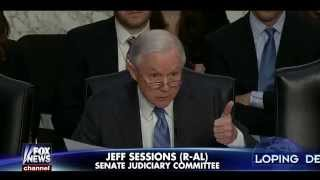 • Sen. Jeff Sessions • Loretta Lynch Asserts That Illegals Have Right to Work • 1/28/15 •