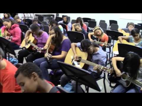 Trickum Middle School Guitar Morning Announcement 2013-2014 Video 3