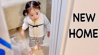 NEW HOME | Baby's Reaction | Japanese Family Vlog