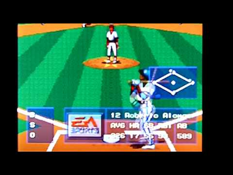 MLBPA Baseball on Sega Genesis / Megadrive / Nomad. Gameplay & Commentary