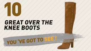 Over The Knee Boots Tan Collection // New & Popular 2017