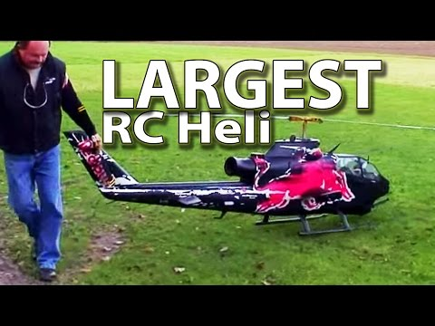 Worlds largest RC Heli - Red Bull Cobra (hobby class turbine. Josef Schmirl)