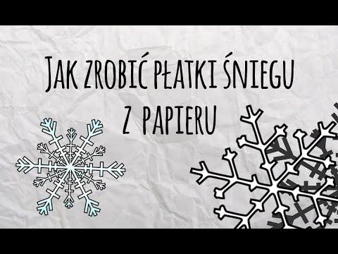 Jak Zrobić Płatki śniegu Z Papieru? - Ozdoby Na święta
