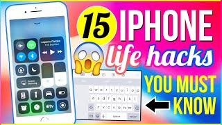 😱15 IPHONE LIFE HACKS You NEVER KNEW 2017! IOS 11 Hidden Features for iPhone X, 8 Plus| Katie Tracy