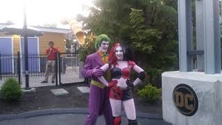 The Joker and Harley Quinn at Six Flags New England