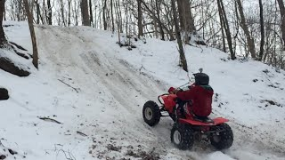 trx450r RAW winter clips
