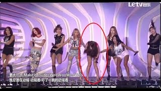 [150920] SISTAR - Shake It (Soyou falls on stage)