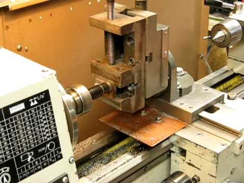 Milling steel on a small metal lathe