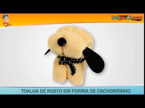 Toalha de Rosto em forma de Cachorrinho - TrazPraCa