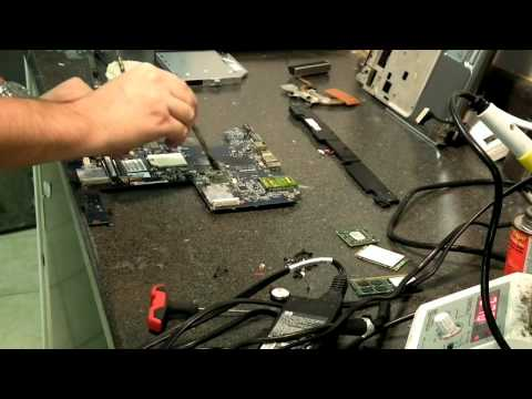 HP DV7 Video failure repair  BGA video chip replacement reball
