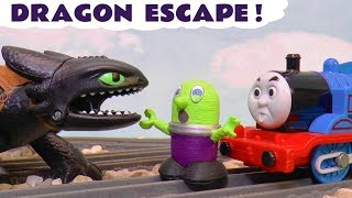 Funny Funlings with How To Train Your Dragon Hiccup and Toothless and Thomas The Tank Engine TT4U