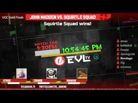 UGC Gold Grand Finals: John Madden vs. Squirtle Squad w/ Atwas & Zoomoo - 2 / 2