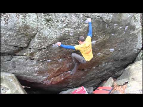 Great Barrington Bouldering, First v10 sent!