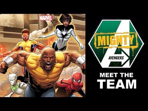 Mighty Avengers Preview - Luke Cage. Monica Rambeau. Falcon. Blue Marvel and 616 Miles Morales?!