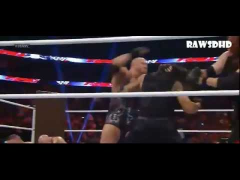 WWE Raw 12/10/12- The Shield Attack John Cena