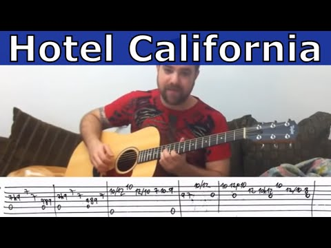 Hotel california tabs guitar lesson