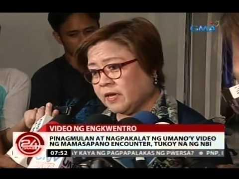 24 Oras: Pinagmulan at nagpakalat ng umano'y video ng Mamasapano encounter, tukoy na ng NBI