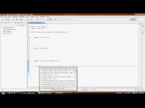 Java Applet Tutorials Eclipse 1/6