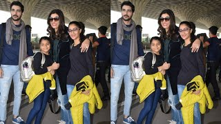 Susmita sen spotted with boyfriend at airport latest Pics video Lifestyle story