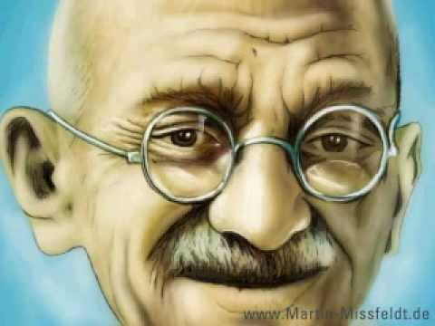 Speedpainting Mahatma GANDHI video peace by Missfeldt