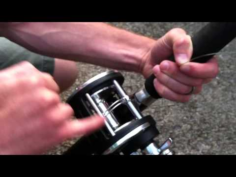 How to put fishing line on a Baitcaster + Levelwind Reel