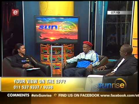 Julius Malema on Sunrise talking about  EFF1
