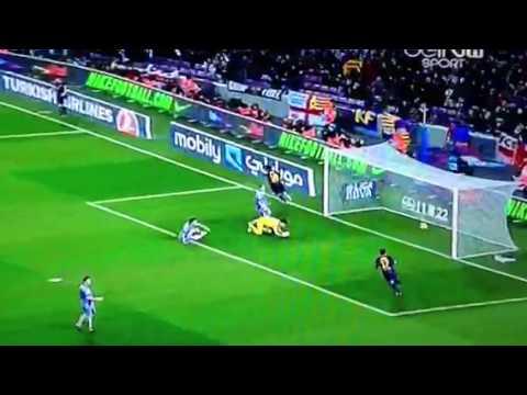 Gol de Messi - Barca 5-1 Osasuna - Goal 4 1/27/2013
