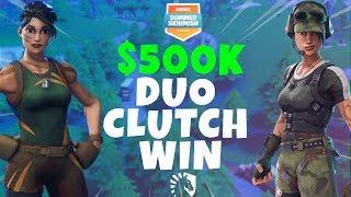 $500k Skirmish CLUTCH DUO WIN (Fortnite Battle Royale)