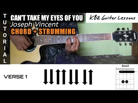 Download Lagu  Joseph Vincent - Can't Take My Eyes Off You TUTORIAL GUITAR│Chord + Strumming Mp3 Free