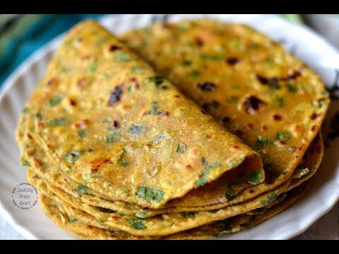 Spring Onion Paratha Video Recipe | How to make Spring Onion Paratha