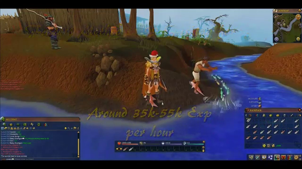 Runescape 1 99 fishing skiller guide f2p and p2p 2014 for Runescape exp table 1 99