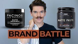Pacinos Matte Paste vs. O'Douds Matte Paste | Brand Battle