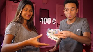 TU PERDS = TU DONNES 100 €