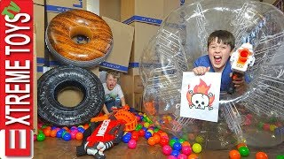 Sneak Attack Squad Team Renegade! Nerf Obstacle Course Part 2!