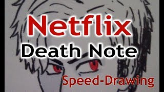 NETFLIX DEATH NOTE Light Turner (Speed Drawing)