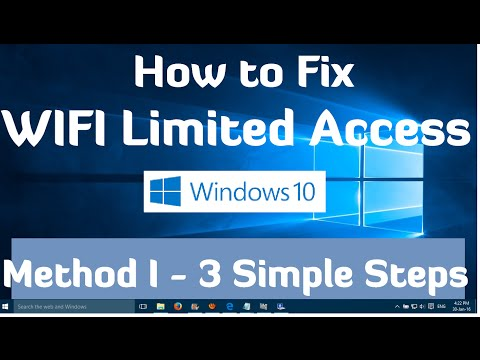 How to fix wifi limited access problem in windows 10 - Method I