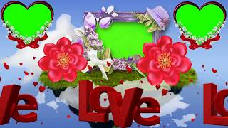 Wedding green screen effect background beautiful frame