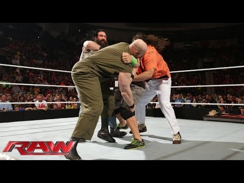 John Cena Brawls With The Wyatt Family: Raw, Feb. 24, 2014 video