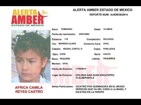 ¿En dónde está la niña África Camila?